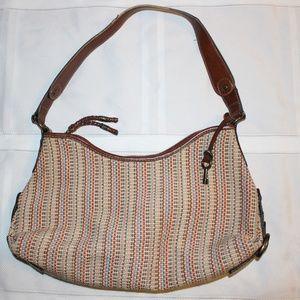 Fossil Multicolor  Woven Handbag